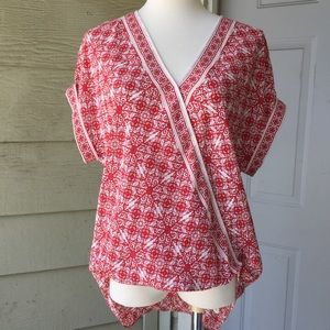 NWT Max Studio Cap Sleeve Blouse Size Small